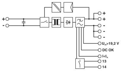 QUINT-PS DC to DC Converter Industrial Power Supply Block Diagram